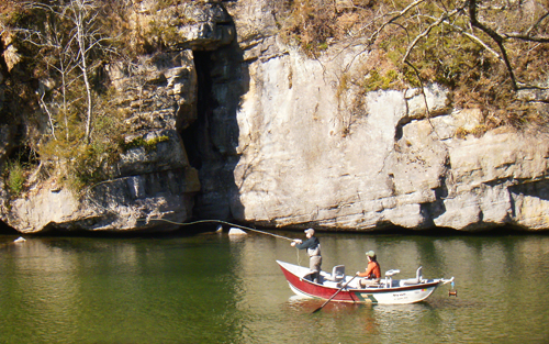 Drifting Little River in Townsend, TN